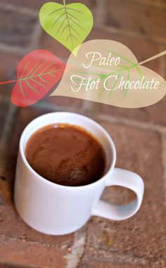 Paleo Hot Chocolate - no dairy or sugar, just lots of rich dark CHOCOLATE. Perfect eggnog alternative for those trying not to gain a ton of weight over the holidays.