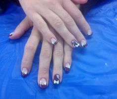 Cat nails with french!