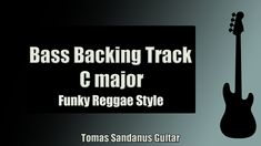Funky Reggae   Bass Backing Track Jam in C Major with Chords   C Major Pentatonic Scale