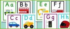 road transportation alphabet cards  #homeschool #preschool #printables #kindergarten