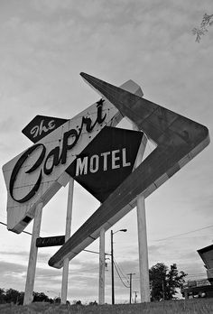 """Capri Motel in Joplin,MO  One could have an entire board with just places called """"Capri.""""  they just took the old sign down..."""