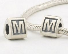 Sterling Silver Alphabet M Charms - Alphabet Charms - Charms - LYDIA JEWELLERY