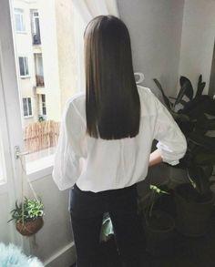 Medium Hair Cuts, Medium Hair Styles, Short Hair Styles, Girly Hairstyles, Easy Hairstyles For Long Hair, One Length Haircuts, Aesthetic Hair, Dream Hair, Brunette Hair