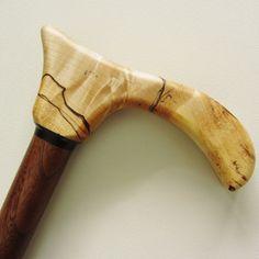 Walking Cane/walking Stick, Spalted Maple top, Ebony accent and Black Walnut bottom shaft
