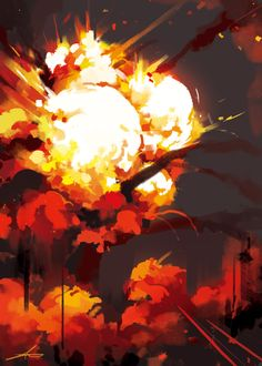 Digital Painting Tutorials, Digital Art Tutorial, Art Tutorials, Explosion Drawing, Dreamland, Fille Anime Cool, Magic Design, Weapon Concept Art, Fantasy Landscape