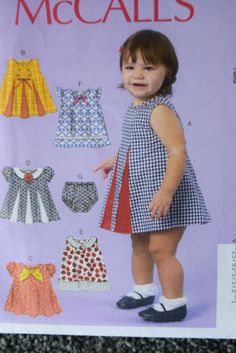 McCalls M7177 Infants Dresses and Panties in sizes by LornasMisc