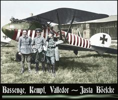 """greatwar-1914: """" Pilots from Oswald Boelcke's elite fighter squadron, Jasta 2. The German ace trained them to fly in disciplined formations and use sophisticated tactics. Here are some of Boelcke's rules for fighter combat: • Try to secure advantages..."""