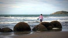 The boulders of Moeraki, Koekohe Beach, New Zealand.