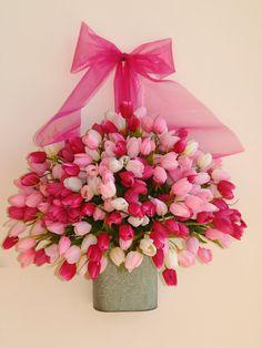 spring wreath medium tulips arrangements front door
