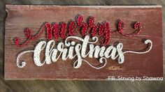 x red barnwood - made to order (can adjust wood and colors of string) Hello Winter, Art Addiction, Diy Kits, Christmas Crafts, Craft Projects, Nail, Colors, Red, Gifts
