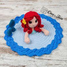 Marina the Mermaid Lovey / Security Blanket PDF Crochet