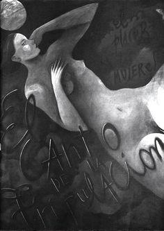 """cMag033 - El Canto de la Tripulación cover nº 2 by Ceesepe """"El placer de las mujeres"""" / 34x49cm"""