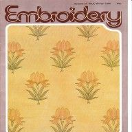 Vintage 1980 Embroidery magazine from The Embroiderers Guild available at Vintage Visage