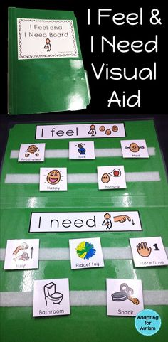 Behavior Management: I Feel I Need Visual Aid File Folder for Special Education This visual choice board is a simple resource for your special education or inclusion classroom. Perfect behavior management tool for students with autism. Classroom Behavior, Autism Classroom, Special Education Classroom, Autism Preschool, Classroom Management, Activities For Autistic Children, Autism Behavior Management, Sensory Toys For Autism, Classroom Ideas