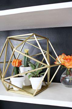 Geometric Globe Planter abeautifulmess.com