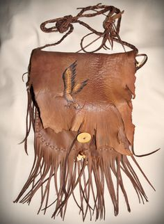 Golden Eagle Pouch Style Medium Bag Tribal by aboriginalsbykate
