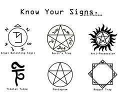 Know your Supernatural symbols                                                                                                                                                     More