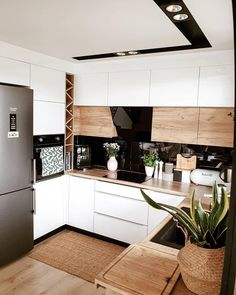 home decor kitchen Inspi_Deco on Instag - Kitchen Room Design, Outdoor Kitchen Design, Modern Kitchen Design, Home Decor Kitchen, Kitchen Interior, Home Kitchens, Kitchen Kit, Kitchen Bars, Kitchen Tables