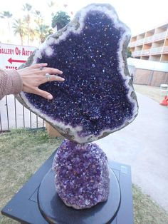I just Love This one.....It's one of the amazing Amethyst Specimens lining the walkways to get to some of the Rock shows! ♥ #crystalbliss