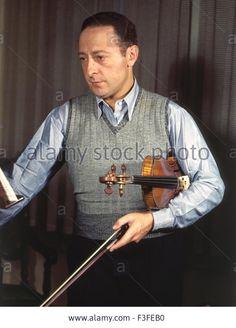 JASCHA HEIFETZ (1901-1987) Russian violinist Stock Photo