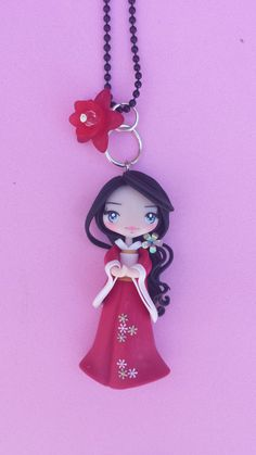 Japanese polymer clay necklace fimo by Artmary2 on Etsy, €12.00