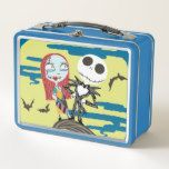 Jack and Sally   Cute Moon Metal Lunch Box #halloween #happyhalloween #halloweenparty #halloweenmakeup #halloweencostume