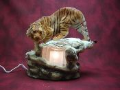 Electric Oil Wax Burner Warmer Diffuser. Great Gift Idea and Decor! http://mkt.com/pure-oils/m-tiger #oils #waxtart #warmer #Wax #burner #homedecor #Tiger #cat #lamp #Soywax #tart #giftideas