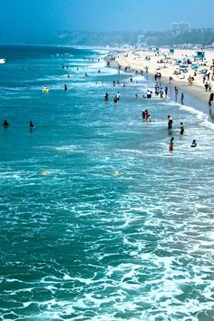Santa Monica Beach, California.