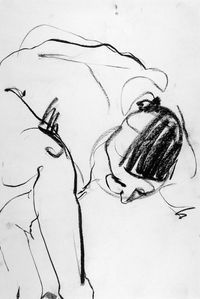 Contour drawing 2nd year life drawing class 1965