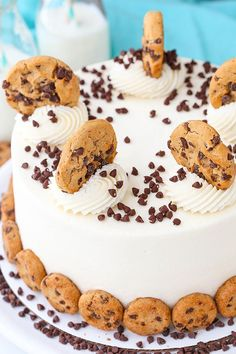 This post is sponsored by The American Dairy Association Mideast, but all opinions are my own. This Milk and Cookies Layer Cake is made with layers of chocolate chip studded brown sugar vanilla cake that are filled with vanilla frosting and crumbled up chocolate chips cookies. The flavor seriously tastes just like eating milk and …