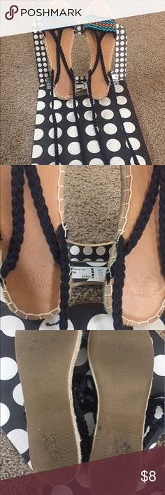 Hollister Braided Espadrille Sandals - EUC Beautiful Hollister Espadrilles in Multicolor. It's in Excellent used condition. The sole actually shows dirt from where the sticker was removed. Just wore once for a beach themed wedding. No Stains or Tear. Size is as per manufacturer. Last picture is a stock photo. Hollister Shoes Sandals
