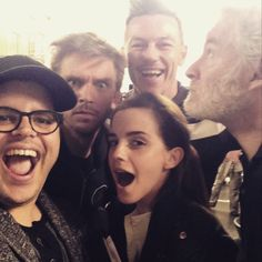 (Above: Josh Gad posted this cast selfie on his Instagram a couple of weeks ago. Left to right: Josh is playing La Fou, Dan Stevens as Beast, Emma Watson as Belle, in back is Luke Evans as Gaston, and Kevin Kline who will be playing Belle's father, Maurice). http://grown-up-disney-kid.tumblr.com/post/117348550504/two-more-added-to-live-action-beauty-and-the