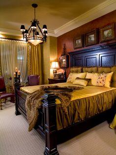 Deluxe Condominium Interior in Glamorous Style : Gorgeous Traditional Bedroom Design Wooden Bedframe Bexley Gateway Condominium