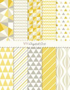 "Digital Paper, Instant Download, geometrica carta digitale Pack (5x11 "") - 10 carte digitali - 546 by VNdigitalart on Etsy"