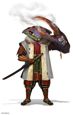 Crab Samurai by Indah Siregar on ArtStation Fantasy Character Design, Character Design Inspiration, Character Concept, Character Art, Dungeons And Dragons Characters, Dnd Characters, Fantasy Characters, Fantasy Monster, Monster Art