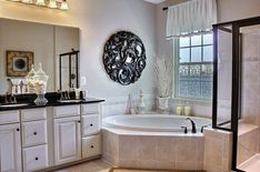 Beautiful master bath! Look at that tub. Ryan Homes at Clarksburg Village  http://www.clarksburgvillage.com/ryan-homes-traditional-singles.php