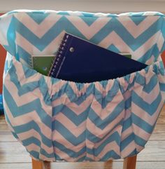 Classroom Organizer Chair Covers Hag Capisco Instructions 100 Best Pocket School Home Office Images Girly Blue Chevron Cover Kindergarten Seat Sack Durable Long Lasting Ready To Ship