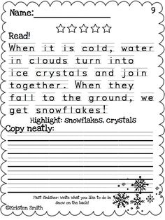 FANTASTIC handwriting resource. Perfect for morning work, handwriting centers, and a great way to help students practice multiple skills at once!
