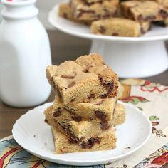 Thick and Chewy Nutella Chunk Cookie Bars by @Tracey Wilhelmsen (Tracey's Culinary Adventures)