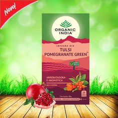 Da mistura da 'Rainha das Plantas' Tulsi com o nosso requintado chá verde, as delicadas flores de hibisco e de romã e o sabor intenso das framboesas, resulta uma infusão cheia de aroma e sabor, que deleitará o seu paladar, a qualquer hora do dia. Embalagem de 25 saquetas #organicindia #organicindiaportugal #zurcetraud #tulsipomegranategreen #antioxidante #infusoestulsibio