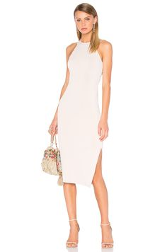 75c3d2b377 Shop for Alice + Olivia Lumi Cross Back Dress in Pale Nude at REVOLVE.