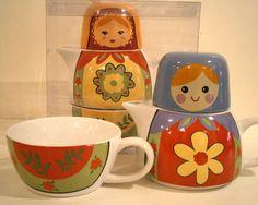 Babushka Cup & Teapot