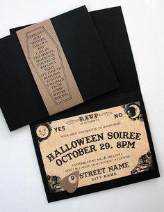 Ouija Board Halloween Invites. Great idea!