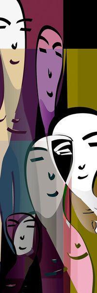 'Together no.2' von Pia Schneider bei artflakes.com als Poster oder Kunstdruck