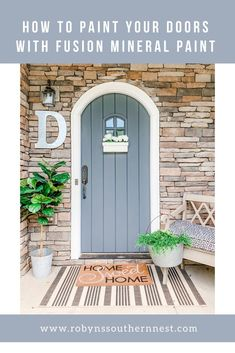 Today I'm going to share how to paint doors with fusion mineral paint to achieve that flawless finish! This paint is fool proof and today I'll share why! Diy Furniture Building, Paint Furniture, Small Paint Brushes, Favorite Paint Colors, Painted Front Doors, New Condo, Front Door Colors, Mineral Paint, Diy Home Decor Projects
