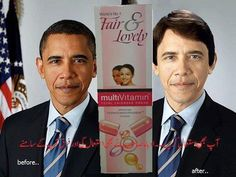 Barack Obama Before and After Using Fairness Cream Fair And Lovely ...
