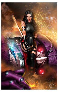 Psylocke by Tyler Kirkham