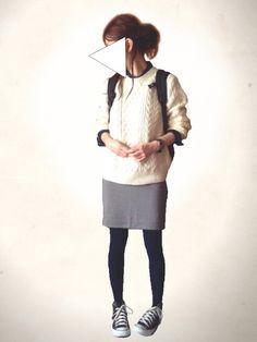 レキミ|UNIQLOのニット・セーターを使ったコーディネート