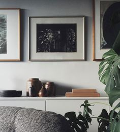 Moody framed art pieces in the Lovely Home of Swed…
