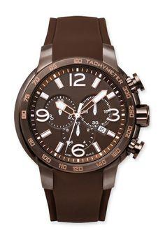 Allurez Men's Brown Tachymeter Sports Watch Quartz Chronograph Swiss Made - game budget Luxury Watches, Rolex Watches, Calgary Jewellery, Discount Dresses, Detox Tea, Chronograph, Omega Watch, Diamond Jewelry, Quartz